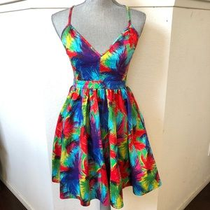 Zara Trafaluc Collection Floral Dress Sz M